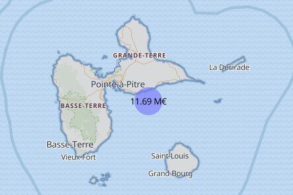 Au 1er mai 2020, 11,69 M€ d'aide ont été versés aux entreprises de Guadeloupe