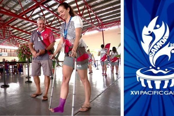 Samoa 2019, Adeline Wiliams blessée