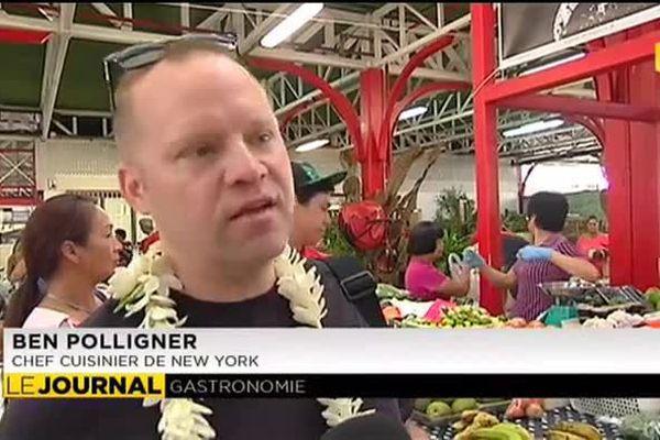 Une grande toque new yorkaise fait son marché à Papeete