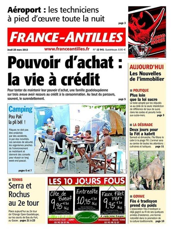 France-Antilles Guadeloupe du 28 mars 2013