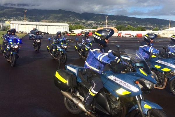 Répétition 14 juillet gendarmes motos