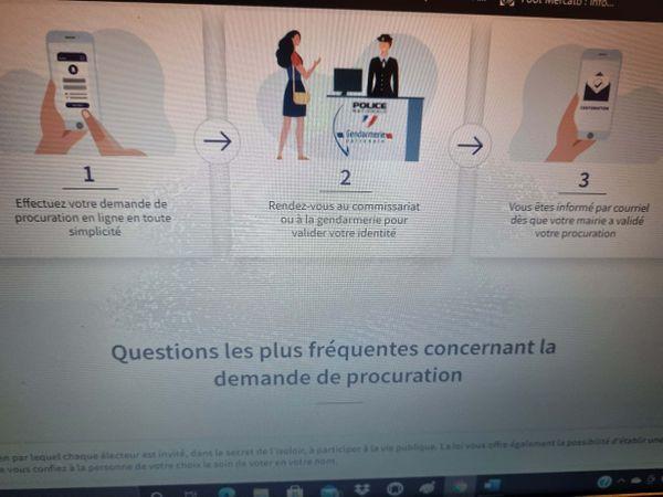 procuration process online