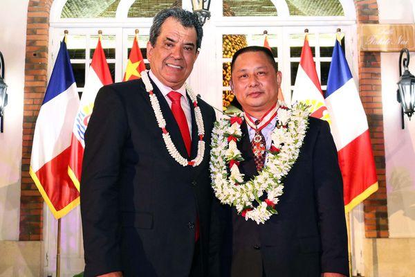 La cérémonie s'est déroulée à la Présidence