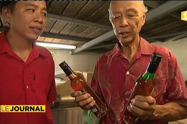 Une liqueur à base d'oranges du Tamanu