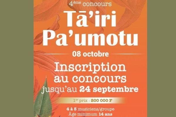 Concours de tā'iri pa'umotu : les inscriptions sont ouvertes