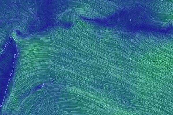 Flux génréaux dans l'océan Indien 28 février 2019