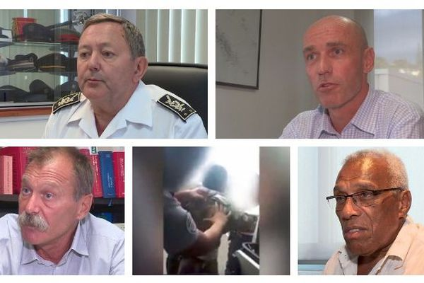 Mosaïque vidéo d'abus policiers