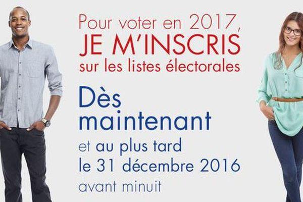 Campagne inscription élections nationales  2017