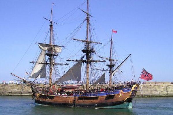Réplique du navire Endeavour commandé par James Cook