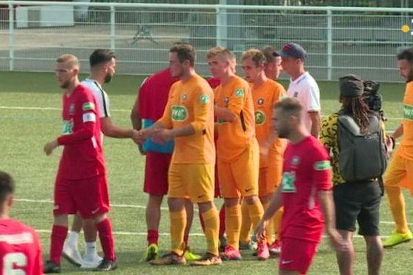 Fin du match entre l'ASIA et le FC Lyon