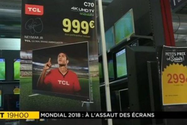 Mondial football 2018 ventes téléviseurs