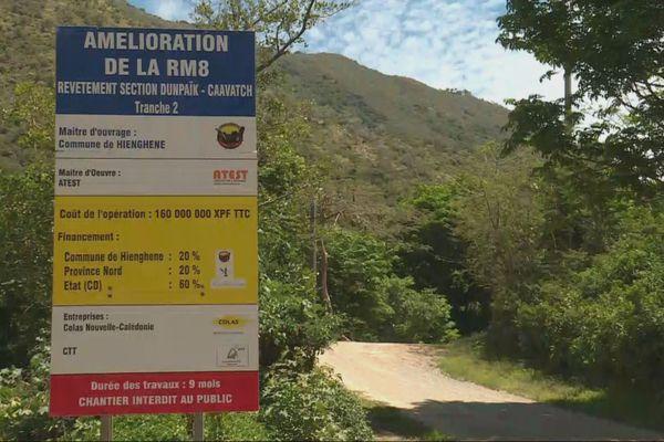 Travaux routes Hienghène