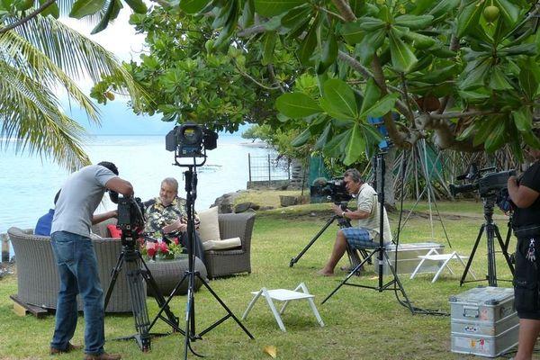 Laurent Gerra au Méridien à Tahiti, interviewé par Lolo pour Polynésie 1ère 5