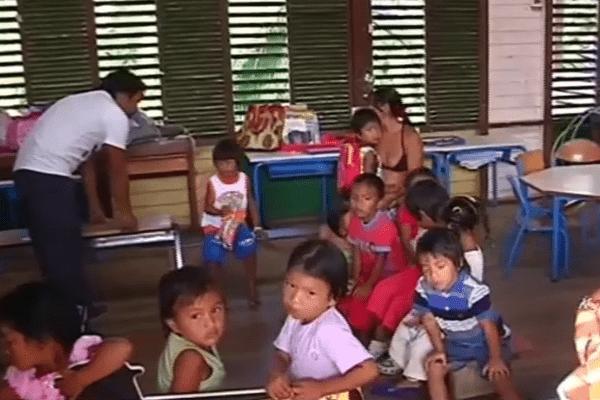 Une classe d'école de Camopi
