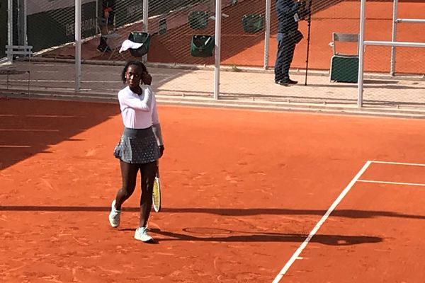 La joueuse de tennis guadeloupéenne Océane Babel.