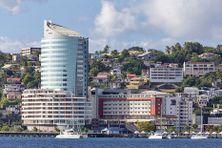 Vue d'une partie de la baie de Fort-de-France, en Martinique