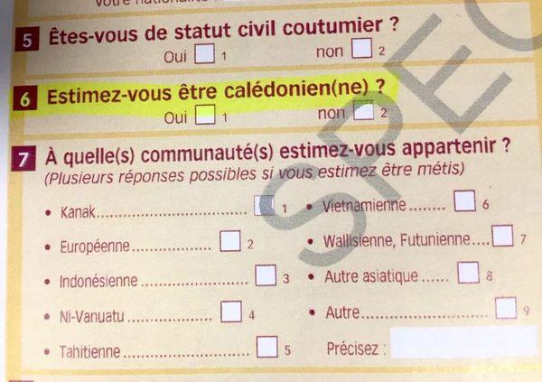 Nouvelel question du recensement 2019