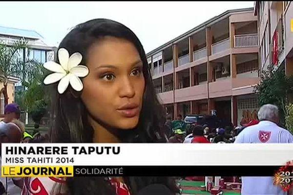 Un repas, Miss Tahiti et des bénévoles pour quelques instants de bonheur pour les SDF