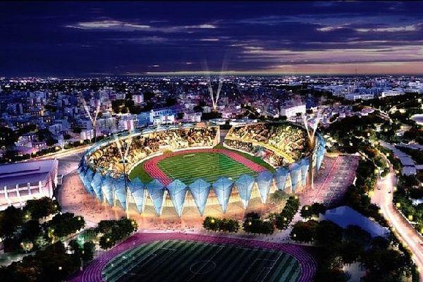 Nouveau stade de Tananarive octobre 2020