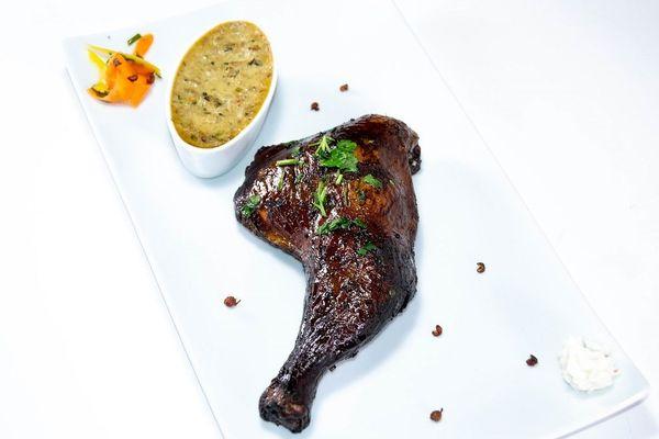 Cuisse poulet boucanée