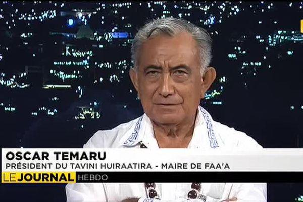 L'invité du journal : Oscar Temaru - Président du Tavini Huiraatira et Maire de Faa'a