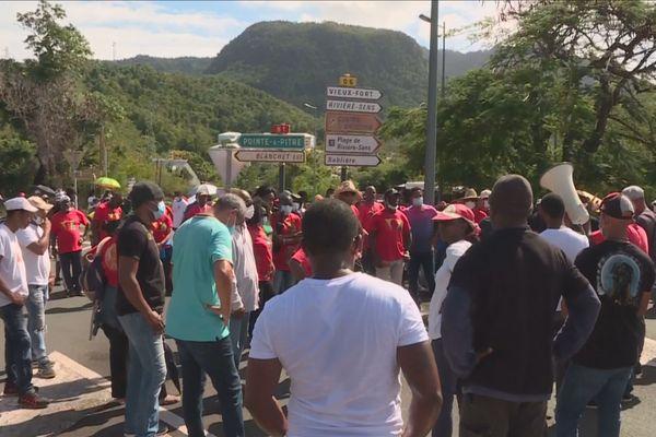 Mobilisation UGTG Basse-Terre 15-01-2021