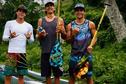 Quatre rameurs tahitiens à Hawaii