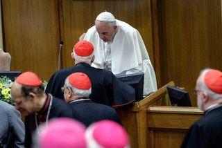 Le Pape François lors de l'ouverture de la Conférence