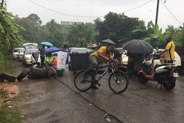 Le barrage de Bandrélé sous la pluie