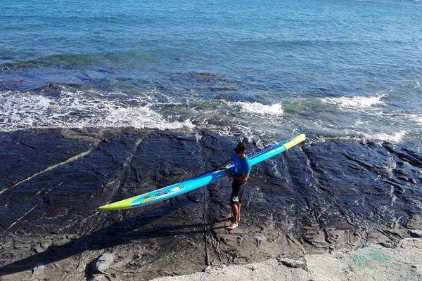 Titouan Puyo à Hawaï pour la Molokaï Stand up paddle (juillet 2017)