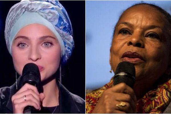 La chanteuse Mennel et l'ancienne ministre Christiane Taubira.