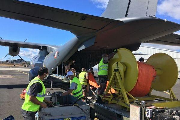 marée noire à maurice naufrage wakashio casa avion militaire FAZSOI envoi matériel 080820