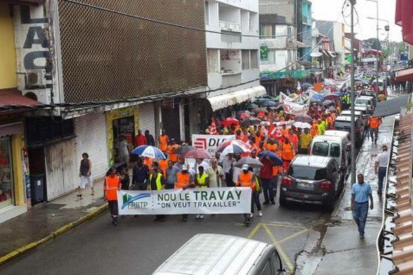 Mobilisation du BTP à Cayenne