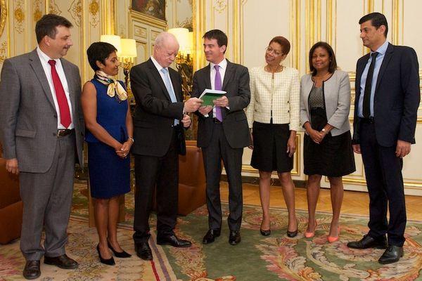 Valls et les députés PS Réunion