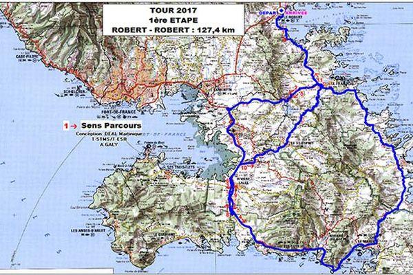 Cartographie du tour Etape 1