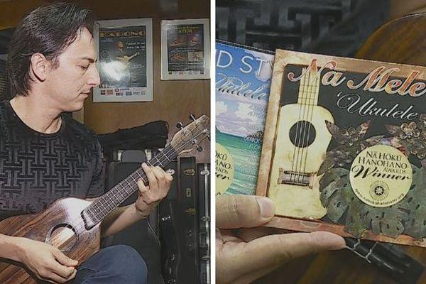 Florent Atem primé à Hawaii avec son ukulele