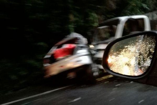 accident route de Salazie