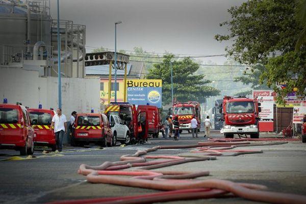 Gros déploiement de pompiers sur place