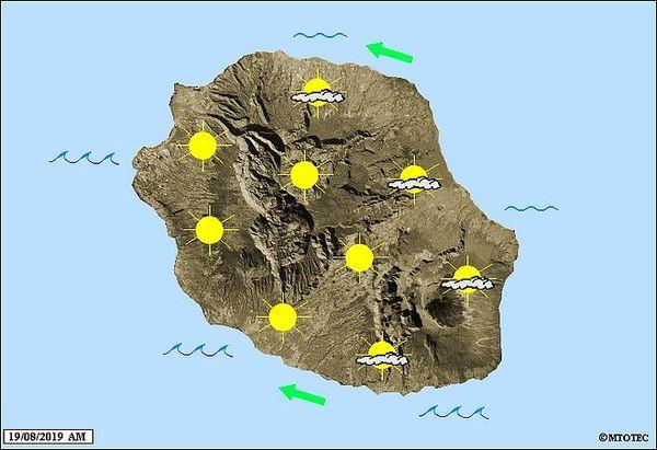 Carte météo 19 août 2019