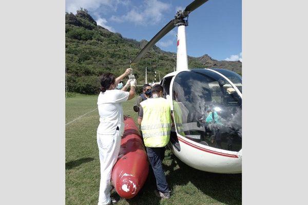 sauvetage en mer / helicoptère