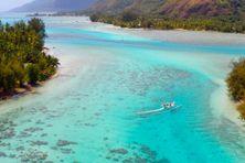 Le lagon de Mooréa, petite île proche de Tahiti