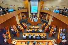L'hémicycle de la CTM à Plateau-Roy à Cluny, lors d'une plénière (image d'illustration).
