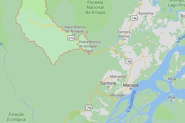Situation géographique de la ville Pedra Branca do Amapari