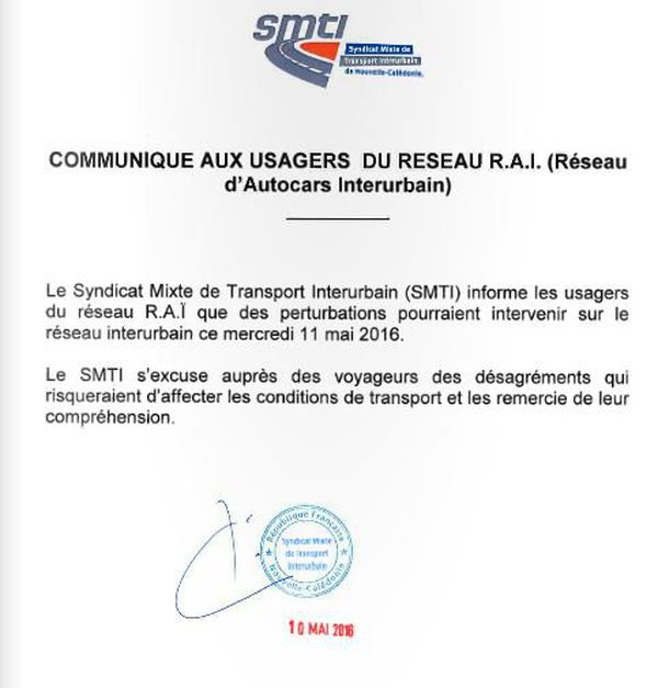 communiqué du réseau RAI