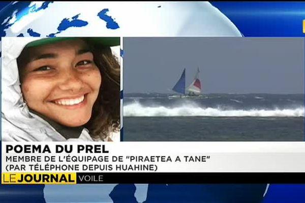 Quatre filles relient Tahiti à Huahine en pirogue à voile