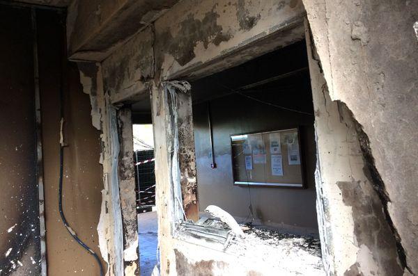 Lendemain de l'incendie au collège Sainte-Marie de Païta, 19 novembre 2018