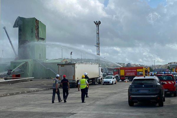Incendie port