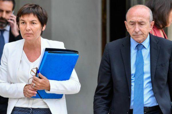 La ministre des Outre-mer, Annick Girardin, et le ministre de l'Intérieur Gérard Collomb.