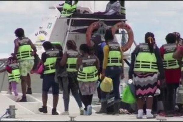 Migrants interceptés par les autorités