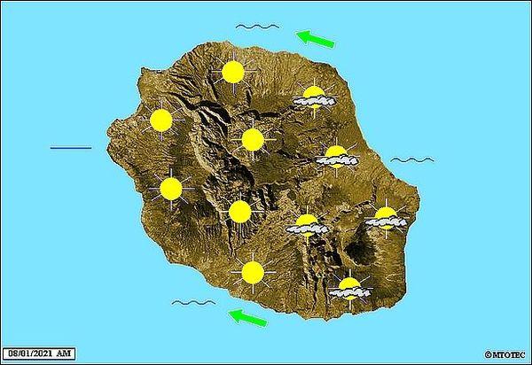 Carte météo 8 janvier 2021